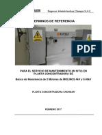 TDR Mantto Banco Resist. Molinos