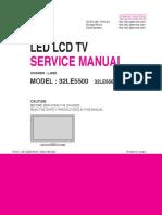 Lg 32le5500 Chassis Lj03d Led Lcd [SM]