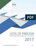 Tarifa Saclima Solar Fotovoltaica PVP 2017 2.0
