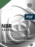 NBR14712 - Elevadores de Carga