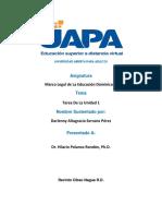 Marco Legal de La Educación Dominicana Tarea 1