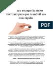 Guia Escoger MicroSD