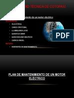 Plan de Mantenimiento Del Motor Electrico