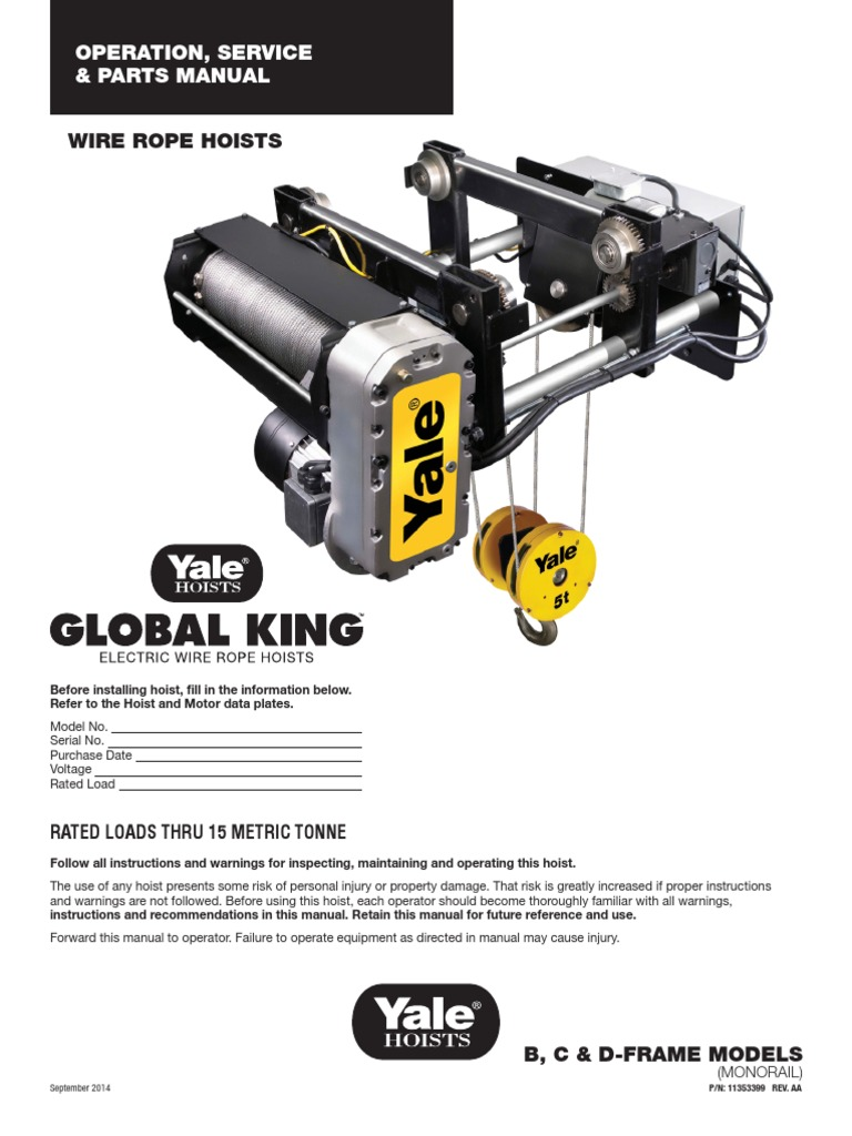 Fancy Yale Electric Hoist Wire Rope Ideas - Electrical Circuit ...