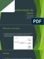 TRANSFORMACIÓN DE LLAVES