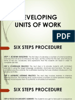 Developing Units of Work