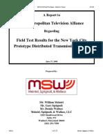 Final MTVA DTx Field Test Report 6-27-2008