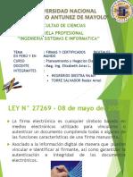 Certificacion y Firmas Digitales