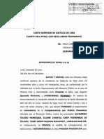 Resolución Apelación de Prisión preventiva Ecoteva