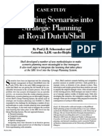Integrating Scenario Planning - Royal Dutch Shell