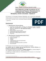 Convocatoria Camioneta Usnio - Segunda Convocatoria Nº08-2017-LG-FSM