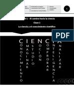 Clase1 El Conocimiento Científico