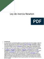 Ley de Inercia Newton