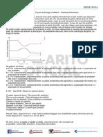 TD 08 - BIOLOGIA - ECOLOGIA - Fluxos de Energia e Matéria - Cadeias Alimentares