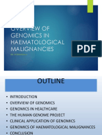 Genomics in Healthcare & of Haemat Cancers 2