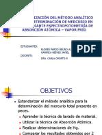 estandarización del metodo de determinacion de mercurio en peces ppt