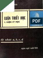 (1965) Luận Triết Học - Trần Bích Lan