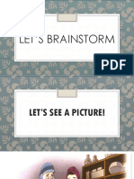 Let's Brainstorm (Writing) - Year 5
