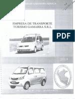 Plan de Contingencia - Empresa de Transporte Turismo Gamarra SRL