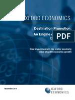Destination Promotion- An Engine of Economic Development