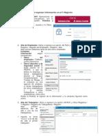 Pasos Para Registrar Información en El T-Registro