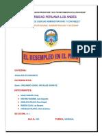 El Desempleo en El Peru i