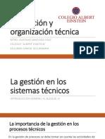 Planeación y Organización Técnica