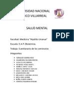 Cuestionario de Salud Mental