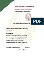 Informe de Corrosion