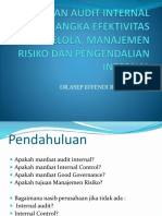 Peranan Audit Internal Dalam Rangka Efektivitas Tata Kelola