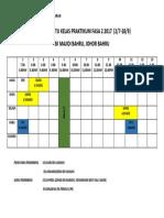 Jadual Waktu Kelas Praktikum Fasa 2 2017