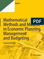 Galimkair Mutanov Mathematical Methods and Models in Economic Planning, Management and Budgeting