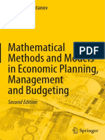 Galimkair Mutanov Mathematical Methods and Models in Economic Planning, Management and Budgeting