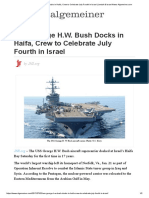 USS George H.W. Bush Docks in Haifa, Crew to Celebrate July Fourth in Israel _ Jewish & Israel News Algemeiner