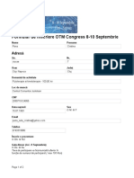 OTM Congress 2016 -
