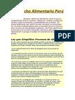 El Derecho Alimentario Perú