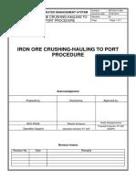 SOP-Iron Ore Crushing Hauling to Port-rev