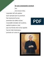 Oracion sanjosemaria 2017