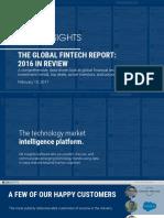 CB Insights Fintech Trends Report 2016