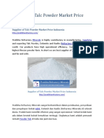 Supplier of Talc Powder Market Price Indonesia