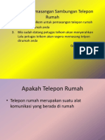 Prosedur Pemasangan Sambungan Telepon Rumah
