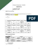 1 HW - PEGN 423 – Petroleum Reservoir Engineering I – Fall 2016