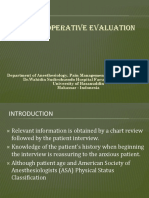 The Preoperative Evaluation