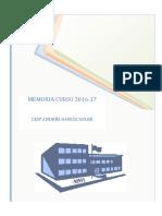 Memoria Curso 2016-17