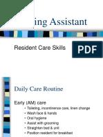 Nursing Assistant - Skills