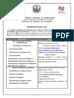 Aviso_Preinscripcion_-2-2016 POSTGRADO FACES - UCV (UNIVERSIDAD CENTRAL DE VENEZUELA).pdf