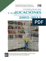 Catálogo_publicaciones-libros, Publicaciones Seriadas Feh - Ucv (Universidad Central de Venezuela)