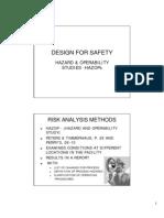 Design for Safety Hazops