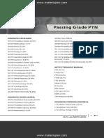 Passing Grade Perguruan Tinggi Negeri (PTN)