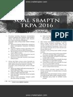 Soal SBMPTN TKPA 2016 Dan Jawaban